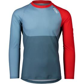 POC MTB Pure LS Jersey Men calcite blue/prismane red
